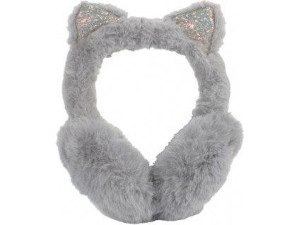 sluchátka zimní na uši kočka s kočkou kočičí plyšové