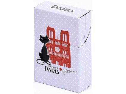krabička na cigarety plechová kočka s kočkou kočičí paříž notre dame