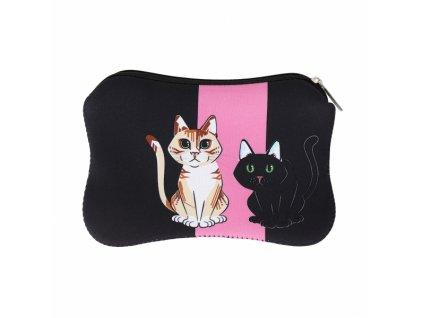 kosmetická taška organizér kočka s kočkou kočičí s kočkami