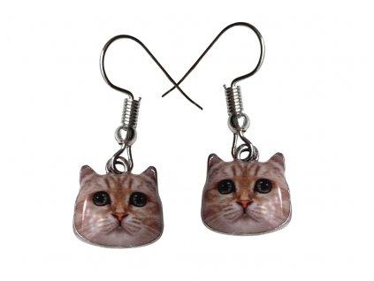 náušnice smaltované kočka s kočkou kočičí s kočkami 2