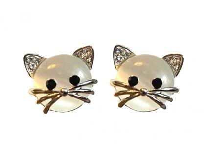 náušnice kočka s kočkou kočičí uši vousky s kočkami pecky 4