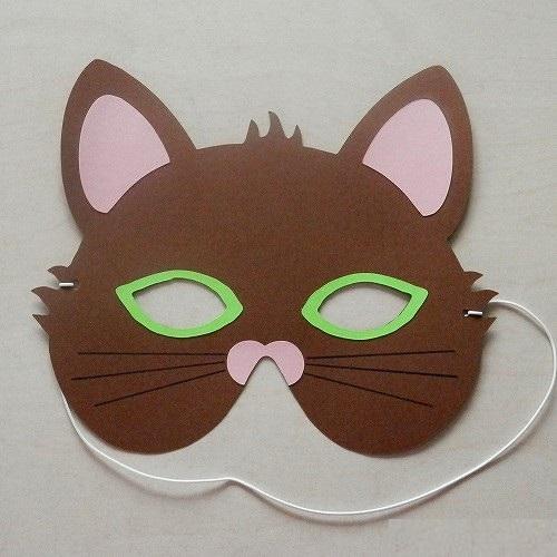 Karnevalová maska kočka - sada k výrobě Barva: hnědá