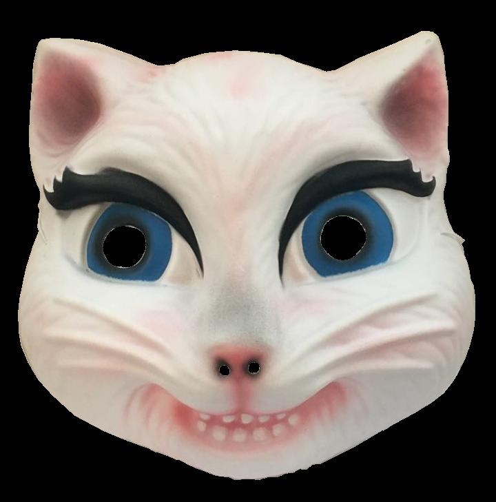 Karnevalová maska bílá kočka