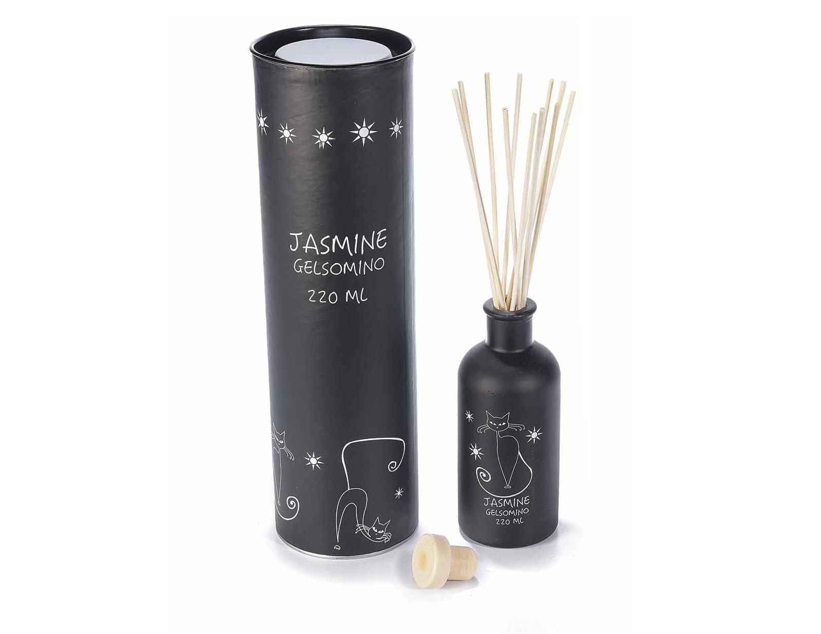 Aroma difuzér s kočkou - vůně jasmín, bavlna Barva: jasmín