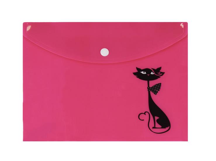 Pouzdro na dokumenty s černou kočkou (A4)