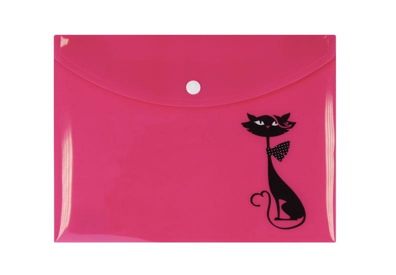 Pouzdro na dokumenty s černou kočkou (A5)