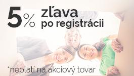 Zľava 5% po registrácii