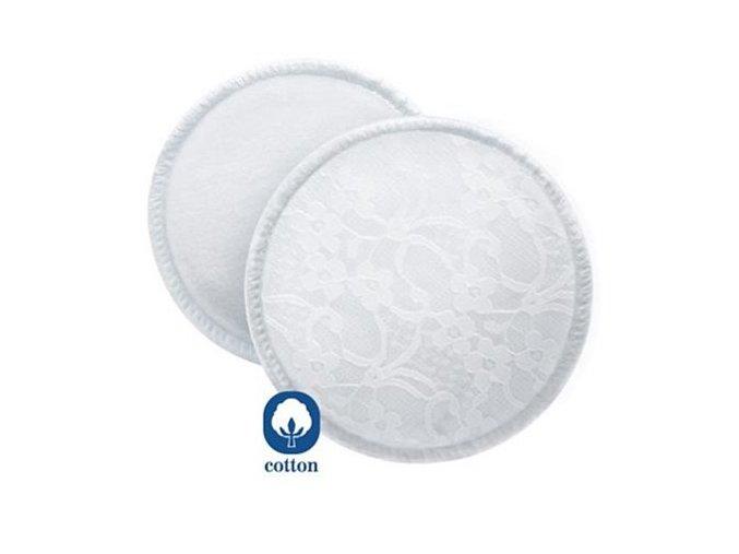 Avent Absorpčné vložky bavlnené - pracie - 6ks