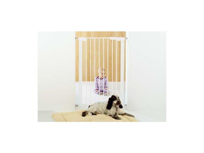 BABY Dan Vysoká zábrana premier Pet Gate 73 - 86 cm biela