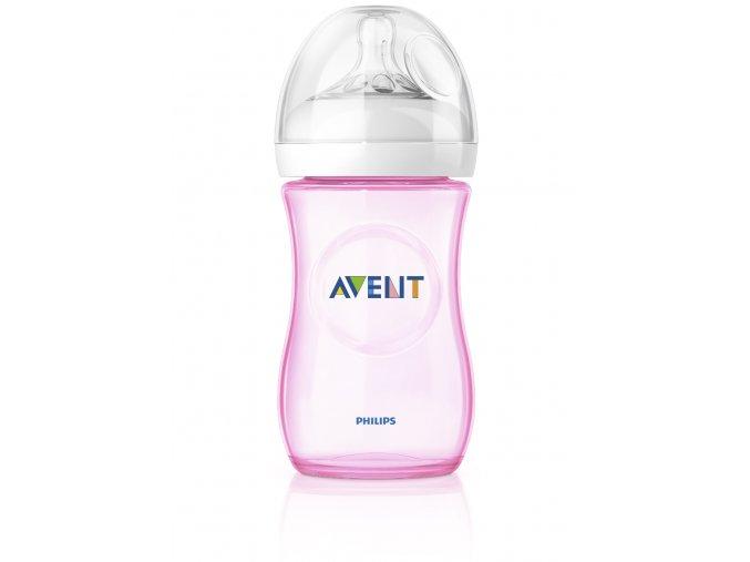 Avent Fľaša Natural PP 260ml bez BPA ružová