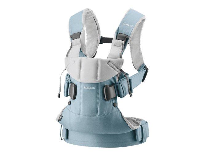 vyr 356 babybjorn baby carrier one light blue light grey cotton mix 098046 001