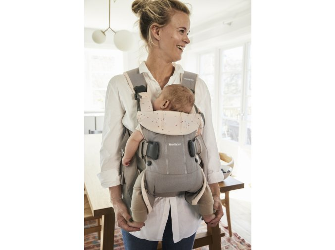 vyr 241Baby Carrier One GreyYellow cotton mix