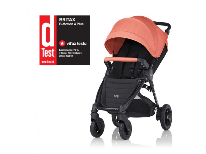 britax romer b motion 4 plus 2017SK coral peach stitek only