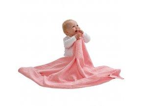 Bavlnená háčkovaná deka do kočíka