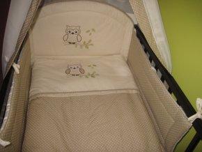 Szeko súprava posteľnej bielizne Sovička LULU, hnedá s bodkami