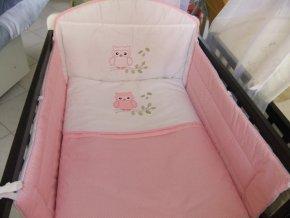 Szeko súprava posteľnej bielizne Sovička LULU, ružová s bodkami