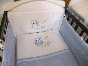Szeko súprava posteľnej bielizne Sovička LULU, modrá s bodkami