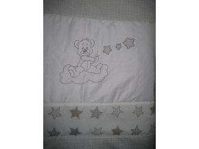 Szeko súprava posteľnej bielizne Medvedík s hviezdičkami, šedá