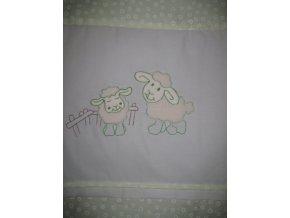 Szeko súprava posteľnej bielizne Ovečky, zelené krúžky