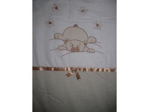 Szeko súprava posteľnej bielizne Medvedík Makaó, béžová