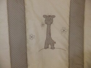 Szeko súprava posteľnej bielizne Žirafa Zoé, béžová