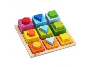 Drevené geometrické bloky