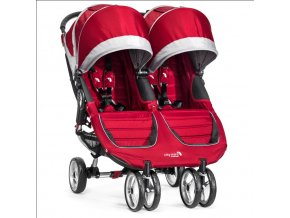baby jogger kocik dvojickovy city mini double crimson gray