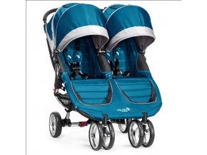 baby jogger kocik city mini dvojickovy teal gray