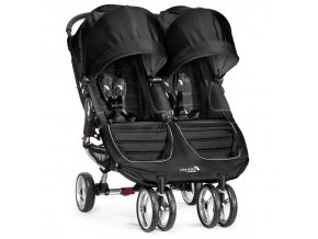 baby jogger kocik dvojickovy city mini double black gray