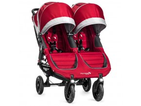 baby jogger kocik dvojickovy city mini gt double crimson gray
