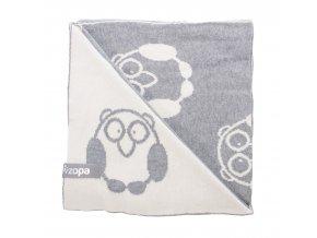 zopa detska deka little owl grey