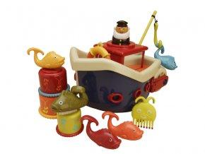 b toys lod s kapitanom fish splish