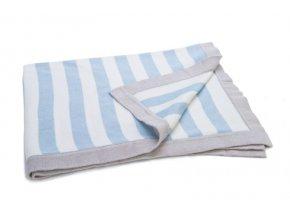 ragtales modra pruhovana deka 70 x 90 cm