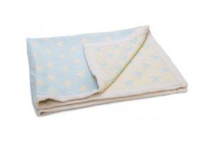 ragtales tyrkysova deka s hviezdickami 70 x 90 cm