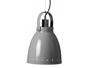 Kovová lampa - šedá