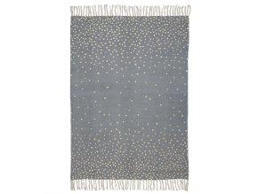Done by Deer koberec90 x 120 cm - šedá/zlatá