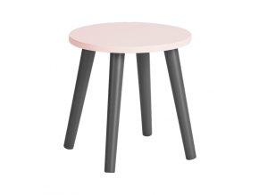 Detská stolička - ružová