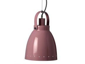 Kovová lampa - tmavě růžová