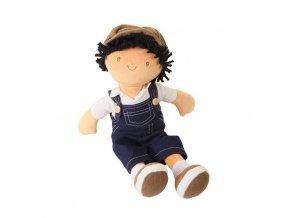 Bonikka látková bábika chlapec Joe modré džínsové nohavice na traky