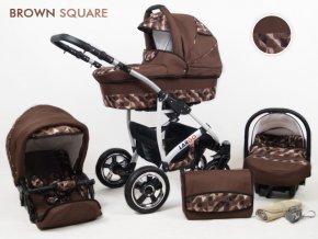 Raf-pol Kombinovaný kočík Largo brown square