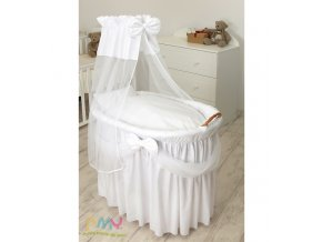 moses basket princess voile white
