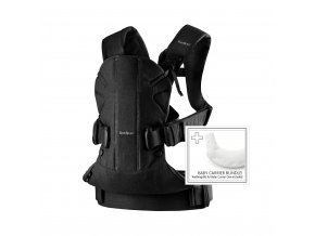 vyr 215 Baby Carrier One Black Cotton Mix with Bib for Baby Carrier One White English text 1
