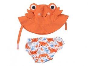 zoochini suprava plavky klobucik crab lalashop 600x450