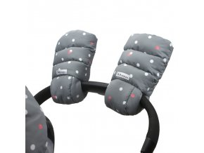 7am enfant warmmuffs rukavice na kocarek grey polkadots1