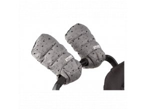 7am enfant warmmuffs rukavice na kocarek heather grey stars.jpg1