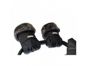 7am enfant warmmuffs rukavice na kocarek waxed forest kozesina uvnitr1