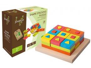 Jouéco drevená skladačka puzzle 28ks