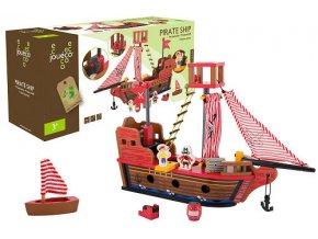 Jouéco drevená pirátska loď