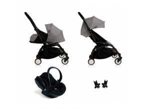 babyzen pushchair yoyo all in one pack grey frame black1
