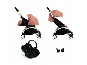 babyzen pushchair yoyo all in one pack ginger frame white1
